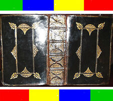 1632 RARE COMPLETE ANTIQUE KING JAMES HOLY BIBLE RULED-IN-RED +MAP PRIZE BINDING