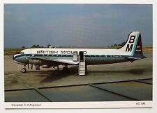 British Midland Canadair C-4 Argonaut postcard