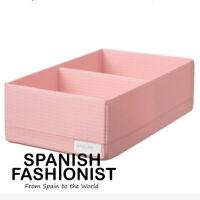 IKEA STUK BOX STORAGE Box with compartments, pink, 20x34x10 cm