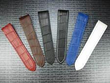 23mm Leather Strap Orange Watch Band Deployment CARTIER SANTOS 100 XL Large