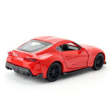 1:36 Toyota Supra Model Car Diecast Toy Vehicle Pull Back Doors Open Red Kids