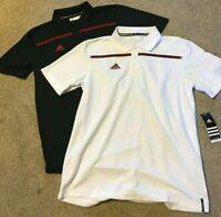 Adidas Mens Sideline Coaches Polo Shirt Climalite Black or White 1866 Medium $60