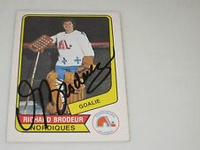 RICHARD BRODEUR AUTOGRAPHED 1976-1977 OPC O-PEE-CHEE WHA CARD