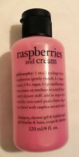 Philosophy Shampoo Shower Gel & Bubble Bath NEW Raspberries & Cream * fast ship