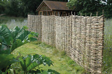 WOVEN WOODEN HAZEL HURDLE FENCE PANEL 6ft NATURAL GARDEN FENCING SCREENING