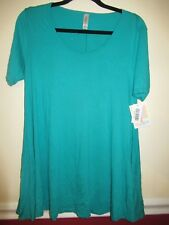 LuLaRoe Perfect T, XS, Solid Vibrant Teal, Damaged NWT