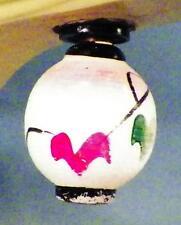 Antique Christmas Tree Light Gifu Japanese Lantern Red Green Flowers #9 Works