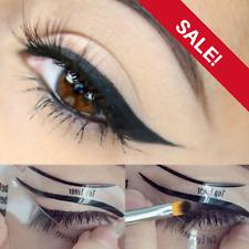❤️NEW EYELINER 2 Stencil Set Makeup Guide Quick Cat Eye Liner Tool Liquid UK❤️