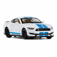 Ford Mustang Shelby GT350 1/32 Model Car Metal Diecast Toy Vehicle Sound White
