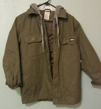 Dickies Men S Canvas Jacket Overshirt Lined Fleece Hooded Relaxed Fit 3820-NWT