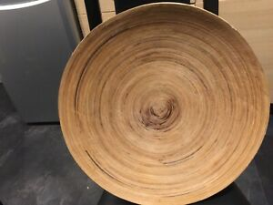 """large 18"""" wooden bowl Plate Unusual"""