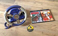 Gamecube Competition Pro X-Racer volante Bundle-con 3 juegos de carreras