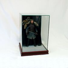 1/6th Scale Figurine Display Case - Comic Figurine - Glass - Cherry