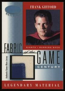 2001 Frank Gifford Leaf Certified Fabric Of The Game Game Worn Patch #12/21