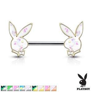 Opal Glitter Playboy Bunny Ends Nipple Bar