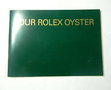 """Oyster"""" English Booklet 579.56 2002 Rolex """"Your Rolex"""