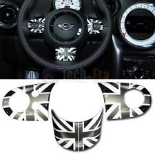 3x Union Jack Steering Wheel Covers For Mini Cooper S JCW Countryman R55 R56 R57