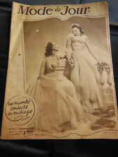 MODE DU JOUR 1938 n°917 spécial Mariage robe demoiselle d'honneur cortége....