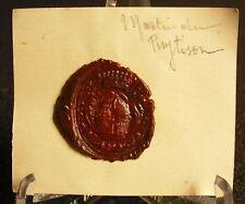 Martin Du Puytisson Cachet de cire armoiries seal Sceau tampon héraldique blason