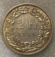 1969 SWITZERLAND 🇨🇭 2 FRANC COIN, Free Combined Shipping.