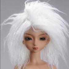 [DM] MSD Wig 7-8 inch 18-20cm 1/4 BJD  (7-8) Mohair Long Style Wig - White