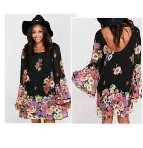 Show Me Your Mumu Bombshell Dress in Falling Floral Size L New with Tags