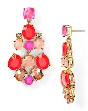 NWT $98 Kate Spade New York Hot Pink Multi Color Chandelier Earrings Great Gift