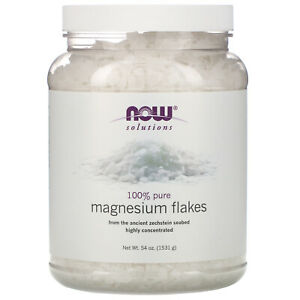 Now Foods Solutions Magnesium Flakes 100 Pure 54 oz 1531 g Not Tested on Animals