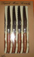 Laguiole Steakmesser und Gabel je 6 Stück