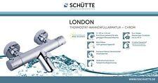 SCHÜTTE Wannenfüllthermostat, LONDON Armatur Verbrühschutz bei 38° chrom 52470