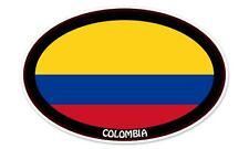 "Colombia Flag Oval car window bumper sticker decal 5"" x 3"""