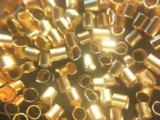 Crimp Tubes Goldtone metal 2mm 100pcs