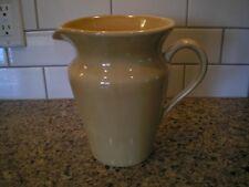"Pottery Barn Gold 7-1/2"" Tall Stoneware Pitcher Jug MINT"