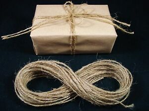 Jute Twine Thin 20m String Natural Hessian Craft Gift Wrap Brown FREE POSTAGE