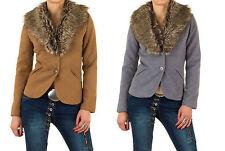 Markenlose Damenjacken & -mäntel aus Polyester ohne Muster mit Knöpfen