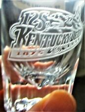 1999 BACON'S KENTUCKY DERBY LIMITED EDITION JIGGER GLASS - ETCHED - MINT