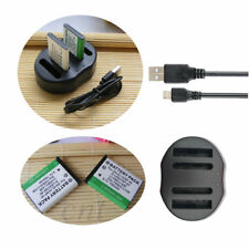 2X EN-EL10 Battery & USB Charger For Nikon Coolpix S210 S500 S510 S520 S3000