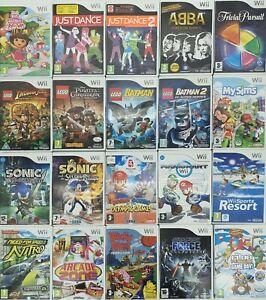 Nintendo Wii Games Choose One Game Or Bundle Up Same Day Dispatch