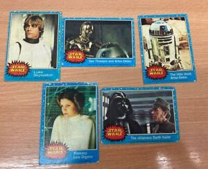 1977 STAR WARS Trading Cards Series 1 Card #1 #2 #3 #5 #7 as shown