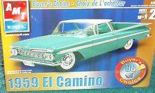 AMT 1959 CHEVY EL CAMINO PLASTIC MODEL KIT SEALED IN BOX 1/25