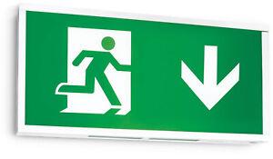 Central Battery Emergency Exit Sign - Down Arrow, 24v/50v/110v IP20 200lumin LED