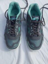 Womens Athletech Shoes 8M Gray Teal Sneakers Tennis/memory foam