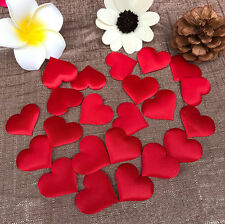 100X Padded Fabric Throwing Petals Love Heart Table Wedding Party Decor 4.5cm C