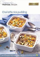 Recipe Card: Chai Latte Rice Pudding (Waitrose)