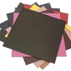 Double-faced Leather with Cow hide, 12in X 12in Size - 10 pcs, 1.5T(1.5mm)