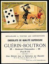 Chromo Guérin-Boutron - Jeu de Cartes - Sept de Pique