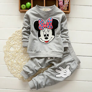 2pcs cotton kids baby infant Girls tops+ pants Outfits spring autumn clothing