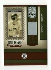 WADE BOGGS MLB 2005 DONRUSS GREATS HALL OF FAME SOUVENIRS MATERIAL (YANKEES)