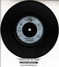 KYLIE MINOGUE  I Should Be So Lucky  PICTURE SLEEVE 45 record + juke box strip