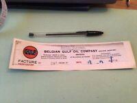 Belgian gulf oil company 1941  Bill head  Ref 50731